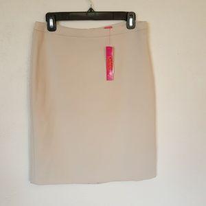 NWT Catherine Malandrino beige suit skirt